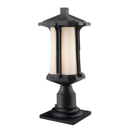 One Light Pier Mount (New zlite Product  Harbor Lane Collection 1 Light Outdoor Pier Mount Light in Black Finish Sold by VaasuHomes )