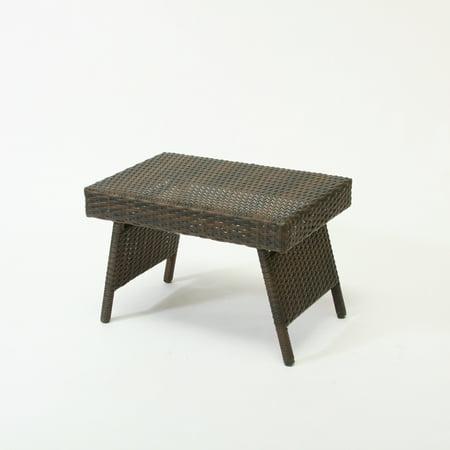 Goodlow Outdoor Wicker Folding Table, Multiple Colors ()