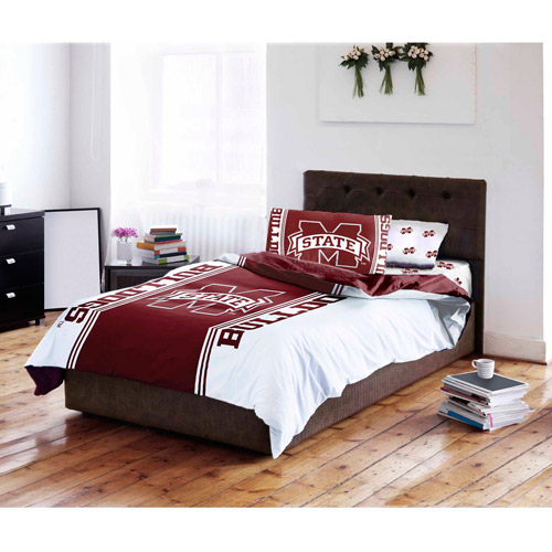 NCAA Mississippi State University Bulldogs Bed in a Bag Complete Bedding Set