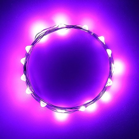 Qedertek Battery Starry String Lights Fairy Decorative Copper light 2PCS (Purple) - Walmart.com