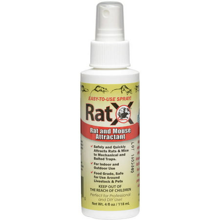 Rat x Ecoclearproducts.com 774324 4 Oz All-Natural Non-Toxic Rat and Mouse Attractant Spray