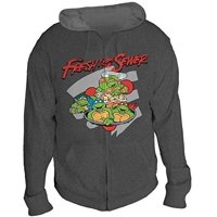 Teenage Mutant Ninja Turtles Fresh from the Sewer Men's Gray Hoodie, Medium