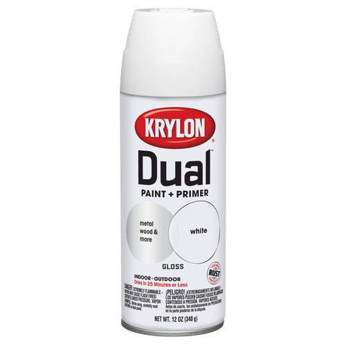 Krylon 12 oz Dual Paint and Primer, Gloss White