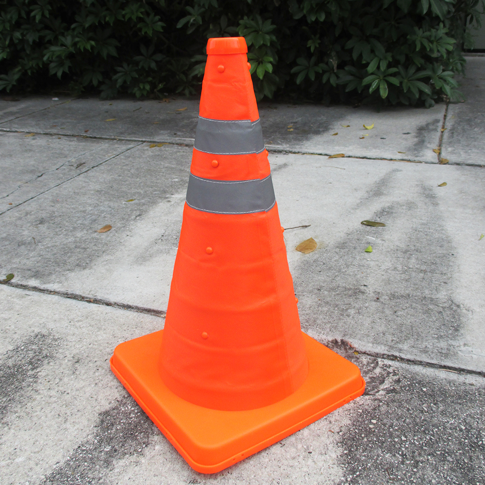 "Collapsible Safety Reflective Cone 16"" Orange Automotive Roadside Traffic Sports"