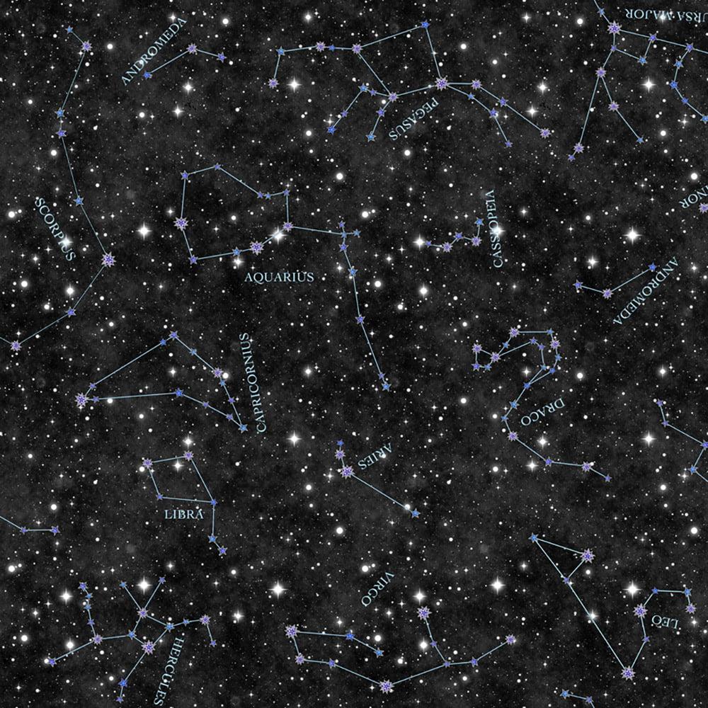 Quilting Treasures Dan Morris Intergalactic Midnight Constellations