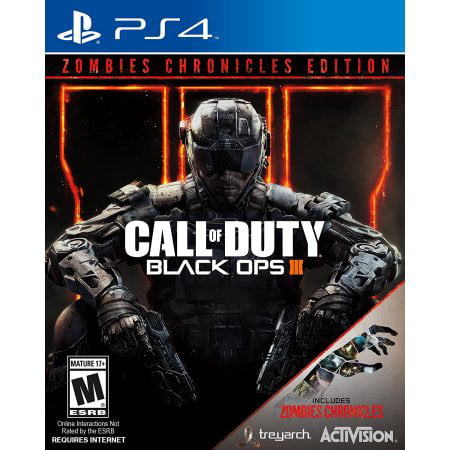 - Call of Duty: Black Ops 3 Zombie Chronicles Edition, Activision, PlayStation 4, 047875881181