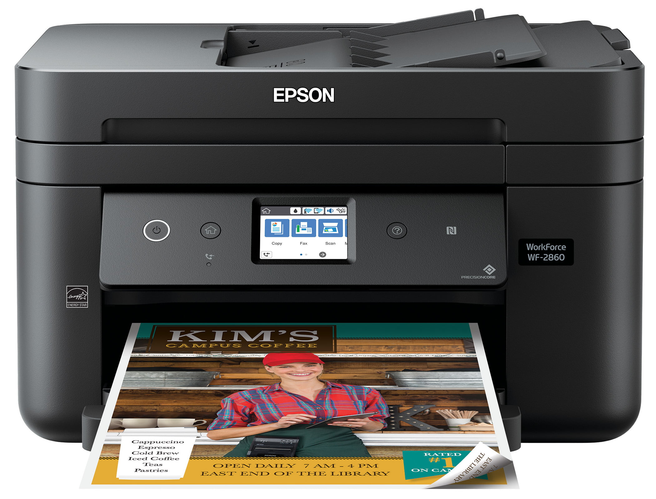 Epson WorkForce WF-2860 All-in-One Wireless Color Printer with Scanner, Copier, Fax, Ethernet, Wi-Fi Direct and NFC by Epson