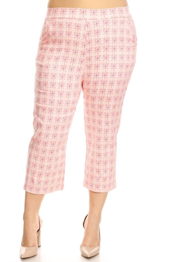 Women's PLUS  trendy elastic waistband pants