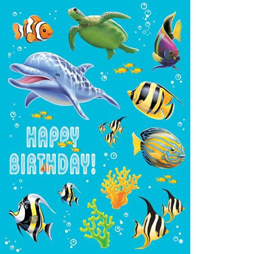Stickers Value 12/4 Pack Ocean Partyn Value Stickers