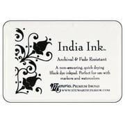 S Superior Memories India Ink Inkpad Lg Black