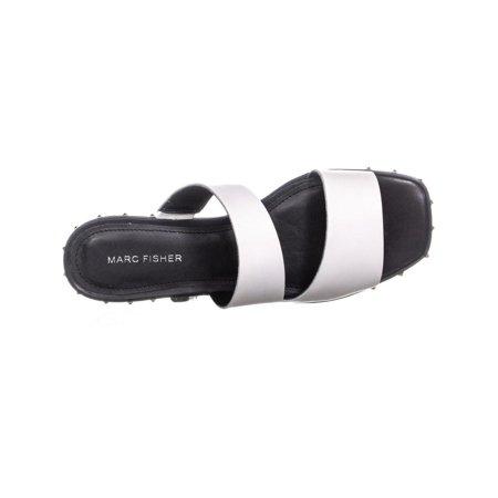 Marc Fisher Jaylin Cut Out Slide Sandals, White - image 1 de 6