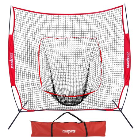 Zeny 7 x 7' Baseball Softball Net Practice Hitting Pitching Batting & Catching W/