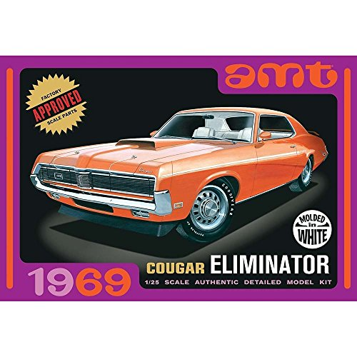 AMT AMT898/12 1/25 1969 Mercury Cougar Eliminator White Multi-Colored