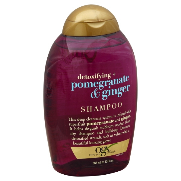 Vogue Intl, OGX Detoxifying + Pomegranate & Ginger Shampoo, 13 fl oz