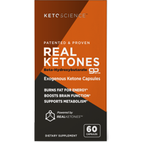 Keto Science Real Ketones Weight Loss & Energy Supplement, 60 Capsules