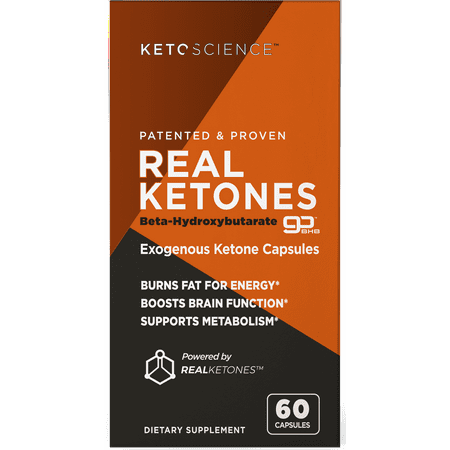 Keto Science Real Ketones Weight Loss & Energy Supplement, 60 Capsules ()