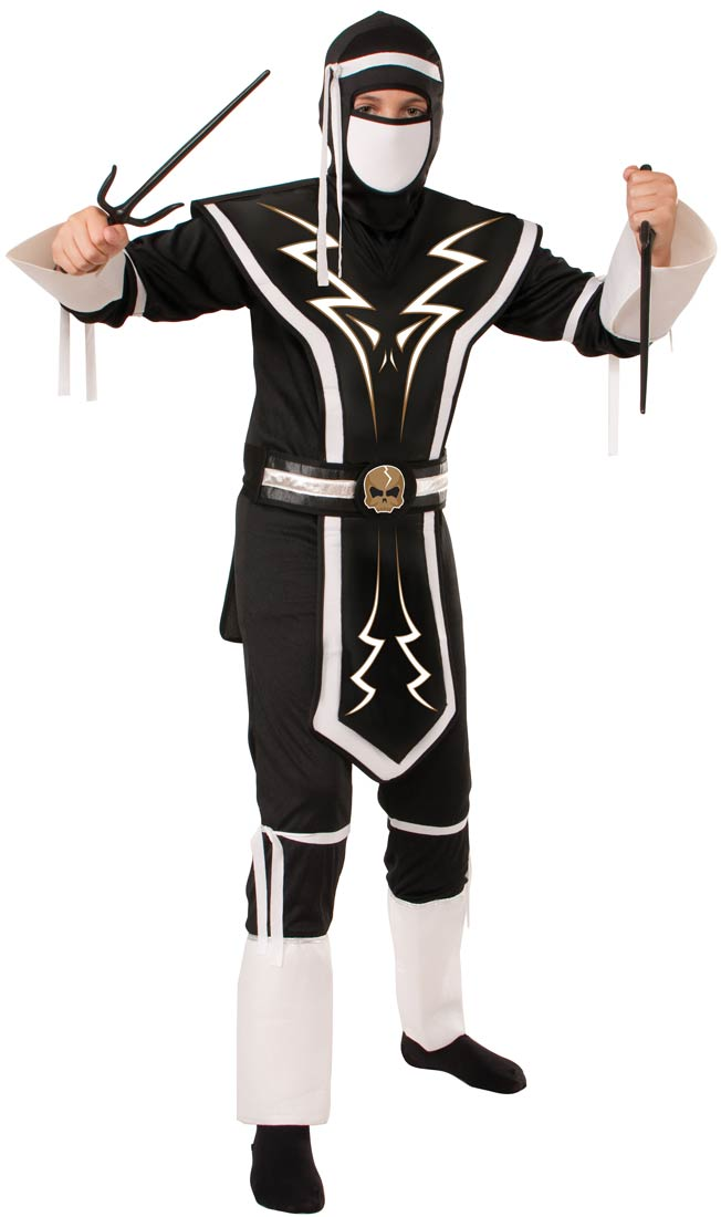 sc 1 st  Walmart & Kids White and Black Skull Ninja Costume - Walmart.com
