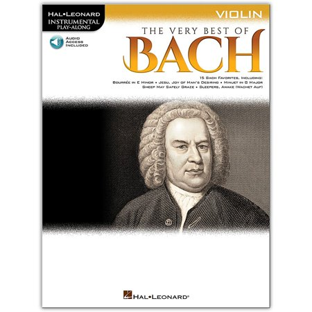 Hal Leonard Very Best of Bach for Violin - Instrumental Play-Along Book/Audio