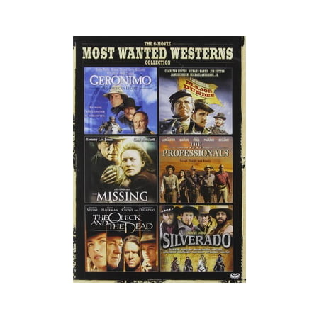 The 6-Movie Most Wanted Westerns Collection: Geronimo / Major Dundee / The Missing / The Professionals / The Quick And The Dead / Silverado