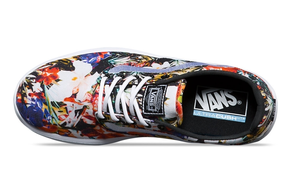 Vans Iso 1.5 Cuban Floral Black True White Ankle High Canvas Skateboarding Shoe 9M 7.5M