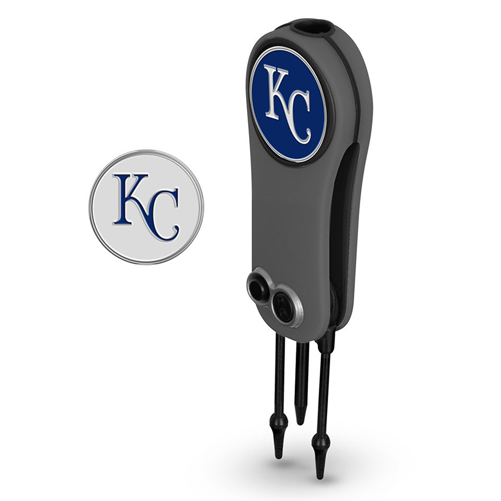 Kansas City Royals Switchblade Repair Tool & Two Ball Markers - No Size