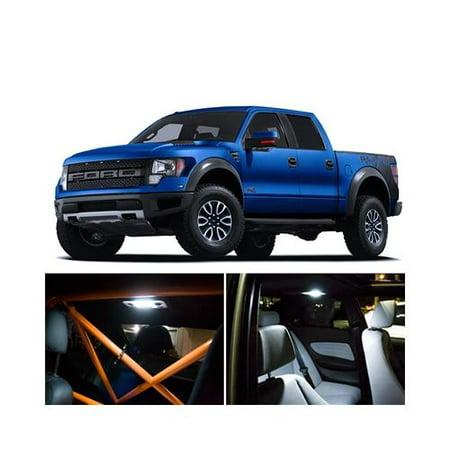 ford f 150 raptor interior package led lights kit smd white 2011 2013. Black Bedroom Furniture Sets. Home Design Ideas
