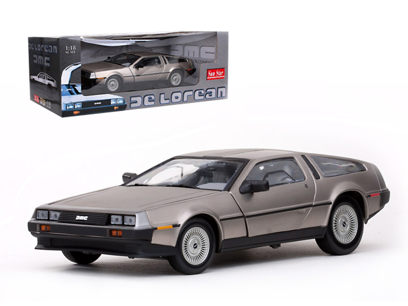 1981 DeLorean DMC 12 Stainless Steel Finish 1 18 Diecast Car Model by Sunstar by Sunstar