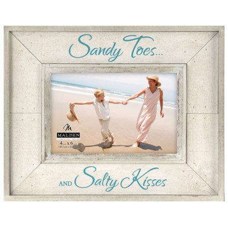 Malden 4'' x 6'' Sandy Toes, Salty Kisses Picture Frame](Unity Sand Frame)
