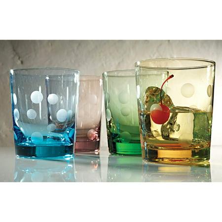 Artland Inc. Polka Dot 12 oz. DOF Glasses - Set of 4 - Polka Dot Glasses