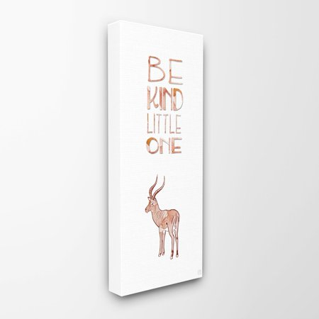 Antelope Wall (Be Kind Little One Antelope Stretched Canvas Wall Art )