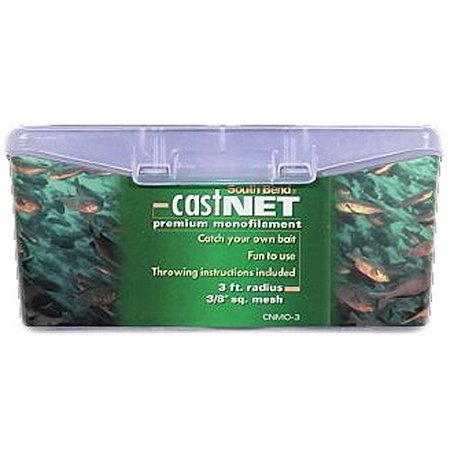South Bend Monofilament Cast Fishing Net 3' X 3/8;