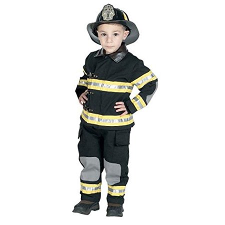 Aeromax Jr. Fire Fighter Suit, Black, Size 6/8.  The best #1 Award Winning firefighter suit.  The most realistic bunker gear for kids everywhere.  Just like the real