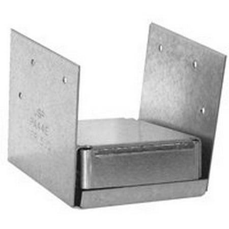 10Pack USP MiTek PA44E-TZ Steel, Triple Zinc, Galvanized 4x4 2-Sided Post Anchor - Galvanized Post Anchor