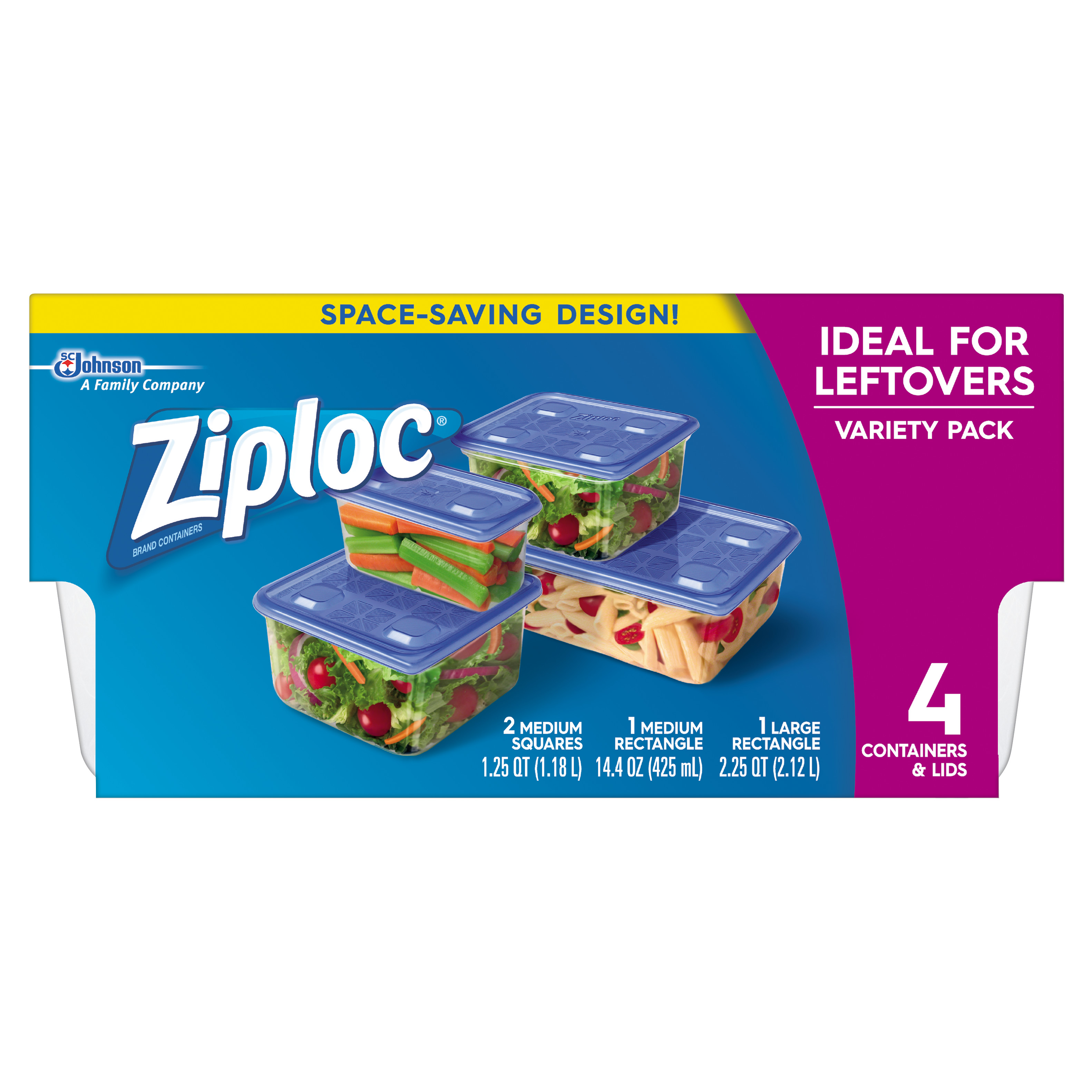 Ziploc Containers Leftovers Variety Pack 4 count