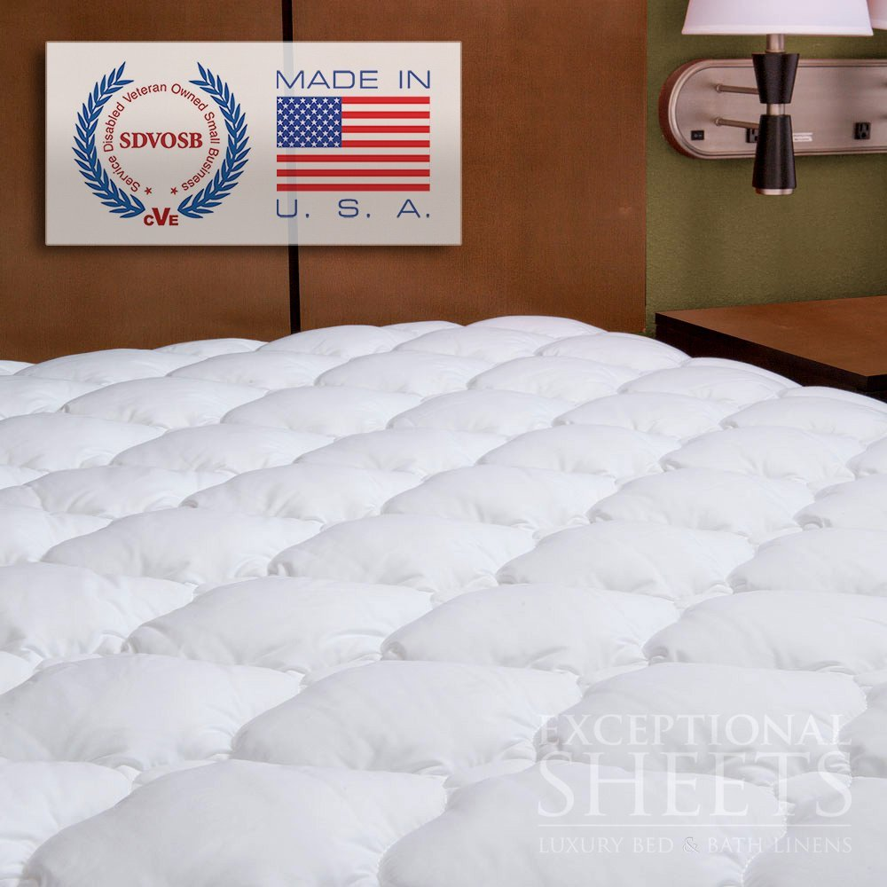 ExceptionalSheets Mattress Pads & Toppers Extra Plush & Extra Thick Mattress Pad