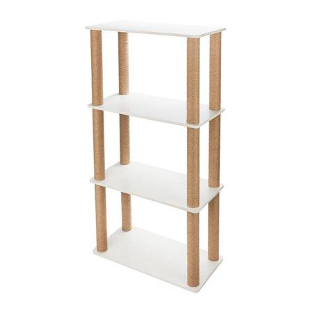 Ktaxon Cat Tree Furniture Scratching Tower Condo Pet House Bookshelf Shelf Storage ()