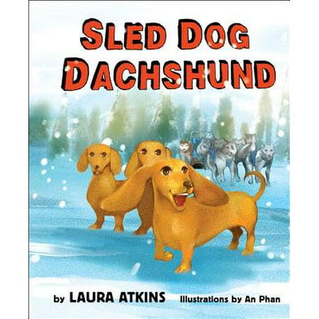 Dachshund Dog Sticker (Sled Dog Dachshund)