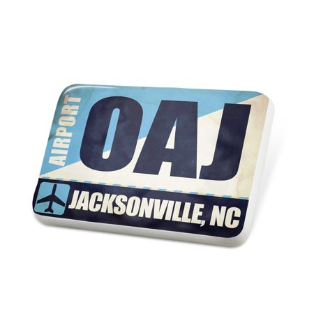 Porcelein Pin Airportcode OAJ Jacksonville, NC Lapel Badge – NEONBLOND](Halloween Store Jacksonville Nc)