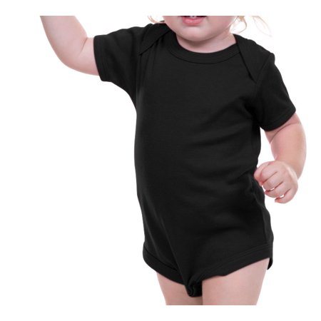 Kavio I1C0187 Infants Lap Shoulder Bodysuit-Black-12M