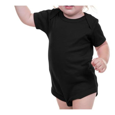 Infant Lap Tee (Kavio I1C0187 Infants Lap Shoulder Bodysuit-Black-12M)