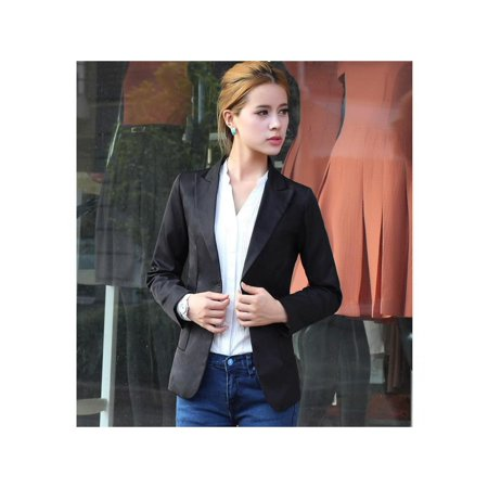 Buttoned Blazer - Women's Fashion One Button Slim Casual Business Blazer Suit Jacket CYBST