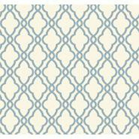 Waverly Classics Hampton Trellis Wallpaper, Delft Blue/Pure White