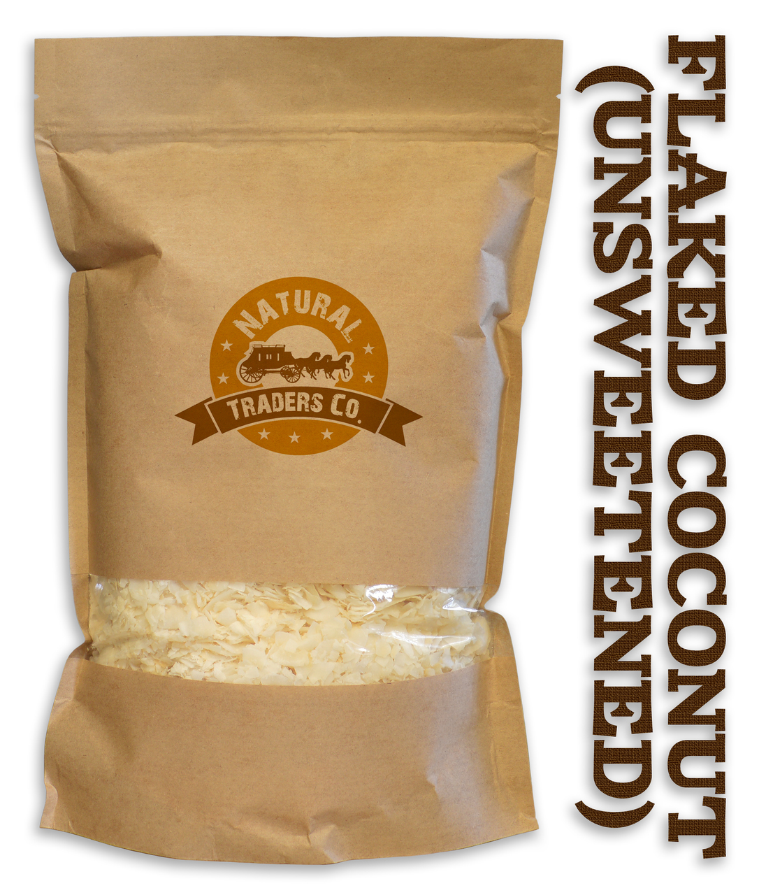 Natural Unsweetened Coconut Flakes 1lb Bag Kosher, NON GMO, Gluten Free, Vegan by