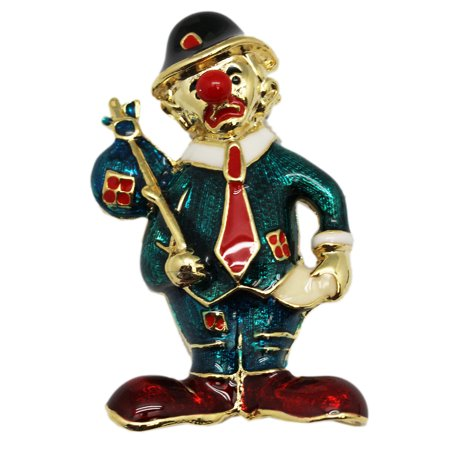 Adorable Hobo Clown Figure Goofy Lapel Pin ()