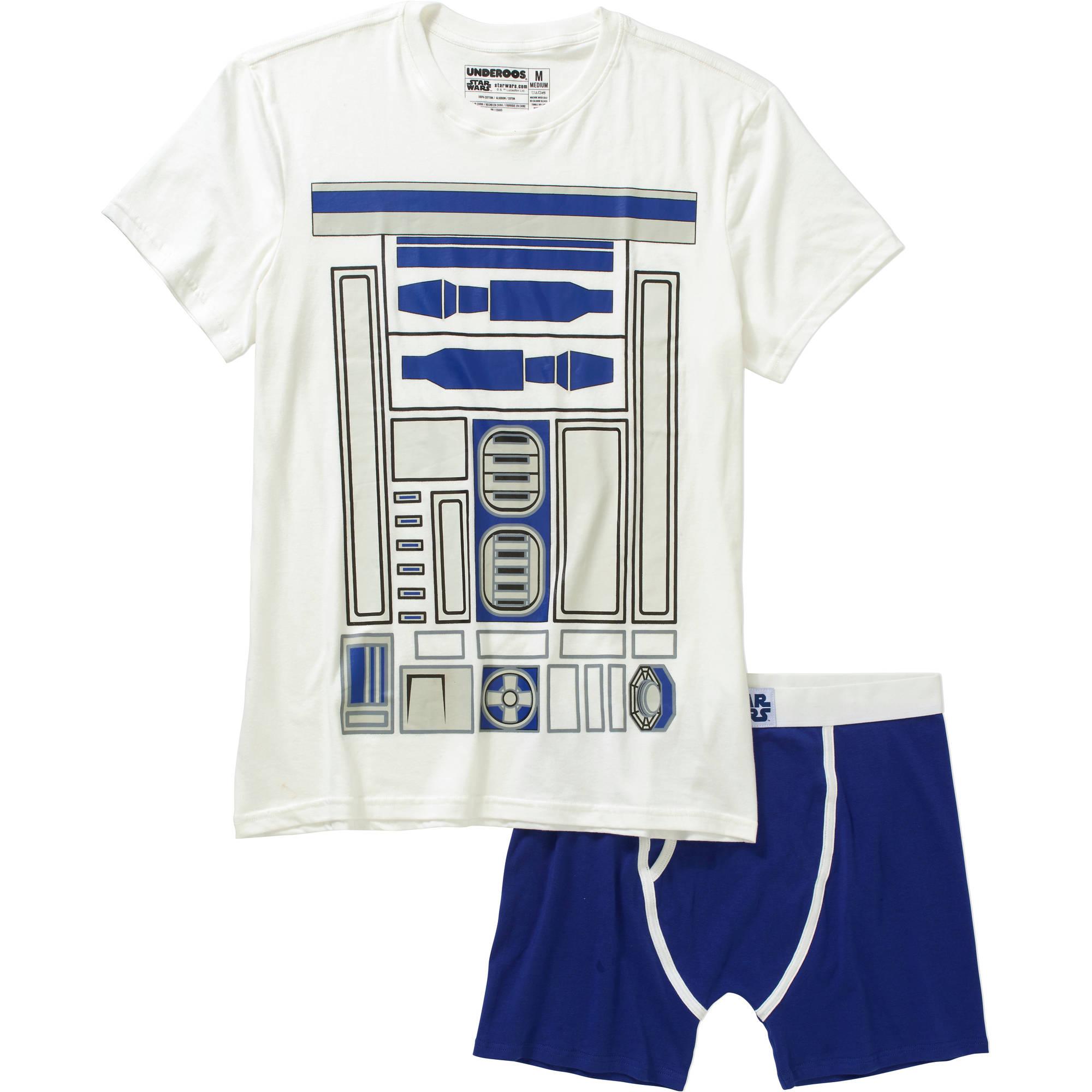 Star Wars R2D2 Men's Underoos Underwear Set