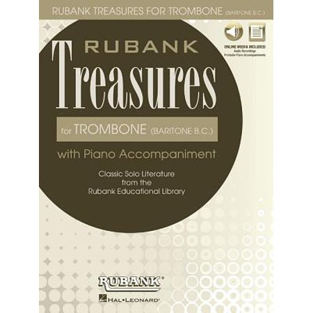Rubank Treasures for Trombone (Baritone B.C.) : Book with Online Audio (Stream or Download)