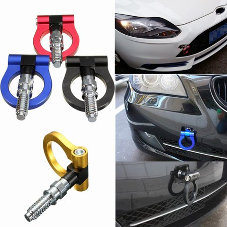 Auto Racing Tow Towing Hook Trailer Ring Kit Universal Front/Rear Bumper Car Screw Aluminum For BMW E46 E81 E30 E36  E39 E90 E91 E92 E93 ()
