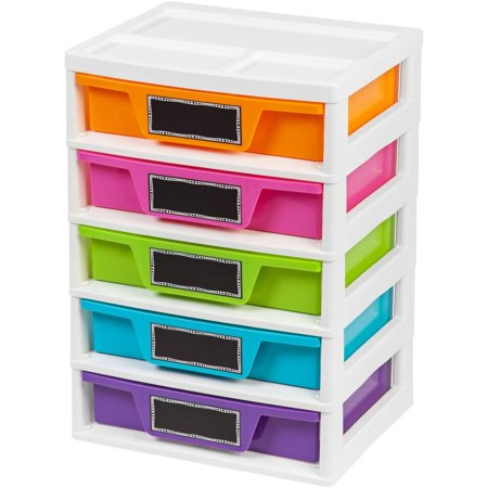 IRIS 5 Drawer Storage Chest (15 Drawer Cd Dvd Storage)