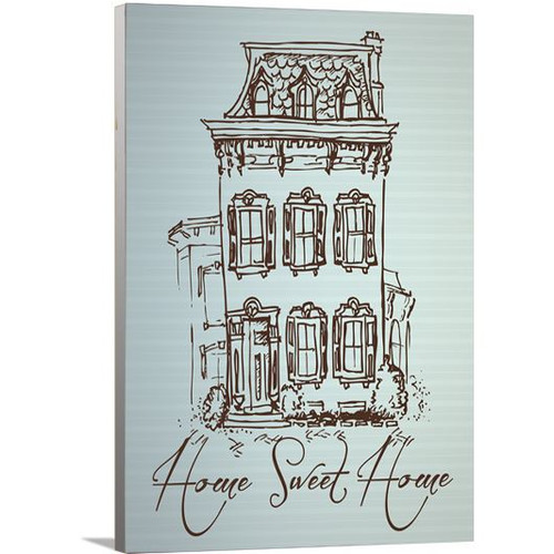 Artzee Designs Modern Quote ''Home Sweet Home'' Graphic Art on Wrapped Canvas