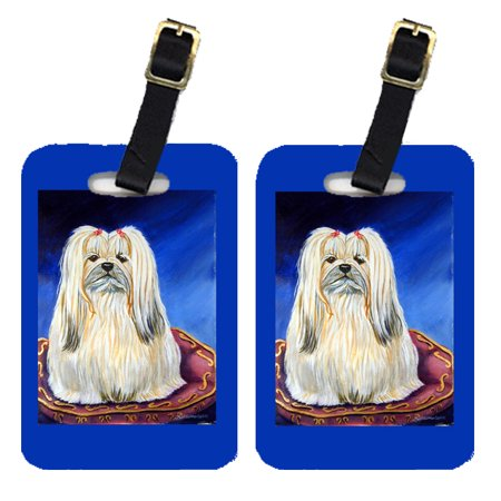 Pair of 2 Lhasa Apso Luggage Tags